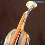 Violino in vetro di Murano e Calcedonio – SCUL010