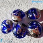 Perle Schisse Onda Blu in vetro di Murano – PERLA007