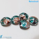 Perle Schisse Onda Verde Acqua in vetro di Murano - PERLA008