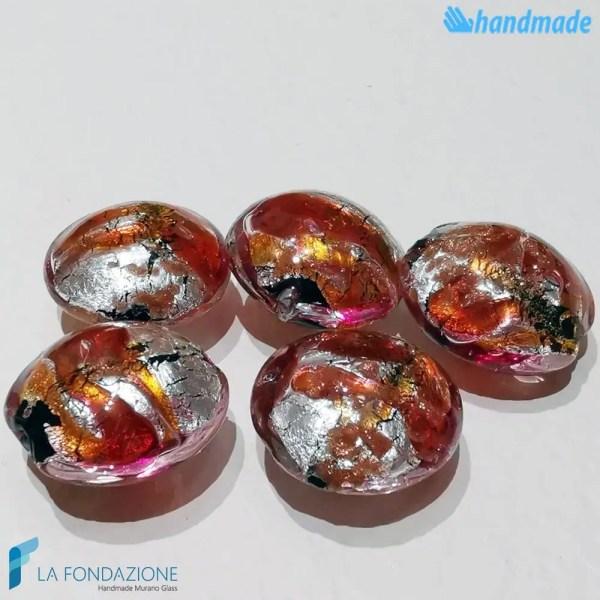 Perle Schisse Onda in vetro di Murano - PERLA009