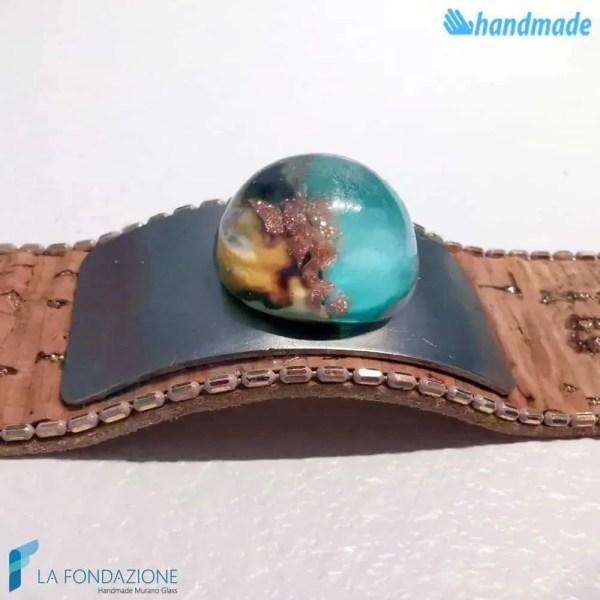 Bracciale maxi bolle nature in vetro di Murano - BRAC0064
