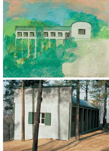 Progetto di Villa e Padiglione Borgo Ticino 1973