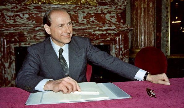Italian Fininvest president Silvio Berlu