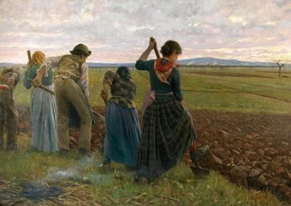Il grembiule, elemento insopprimibile nell'abbigliamento contadino