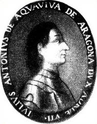 Ritratto di Giulio Antonio Acquaviva in veste di condottiero conservato nella sala consiliare del Municipio di Giulianova