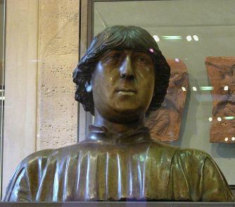 """Busto in ceramica policroma di Re Ferdinando I d'Aragona detto """"Don Ferrante"""""""