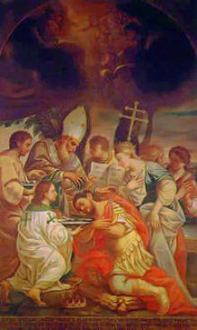 San Gregorio Armeno battezza il re Tiridate