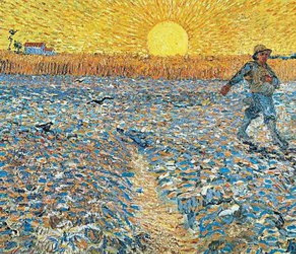 Vincent Van Gogh, Seminatore al tramonto (1888), Museo Kröller-Müller, Otterlo