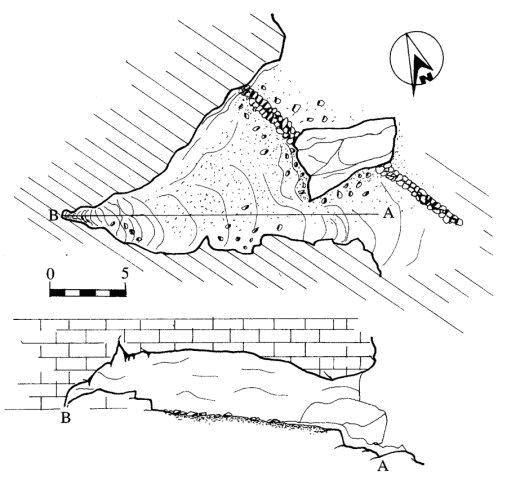 Massafra Planimetria della grotta coppolecchia, nascondiglio del brigante Pizzichicchio