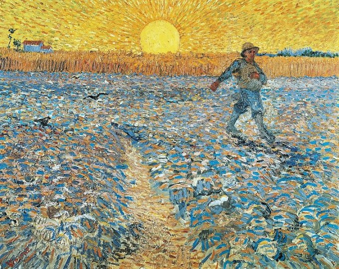 Vincent Van Gogh, Il seminatore al tramonto (1888), Museo Kröller-Müller, Otterlo