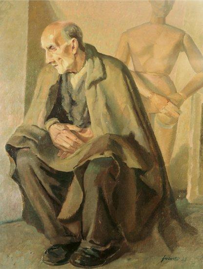 Il-vecchio-sacrestano (olio su tela, 1948), Bassano del Grappa