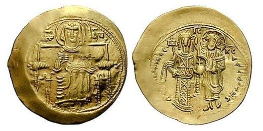 moneta aurea di Andronico Comneno; immagine tratta da http://www.wildwinds.com/coins/byz/andronicus_I/sb1983.1.jpg