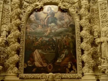Casarano, Chiesa Maria SS. Annunziata, Altare dell'Assunta, tele di D. A. D'Orlando (ph Maura Lucia Sorrone)
