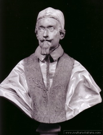 busto di Alessandro VII, Palazzo Chigi Zondadari, Siena immagine tratta da http://www.scultura-italiana.com/Galleria/Bernini%20Gian%20Lorenzo/imagepages/image13.html