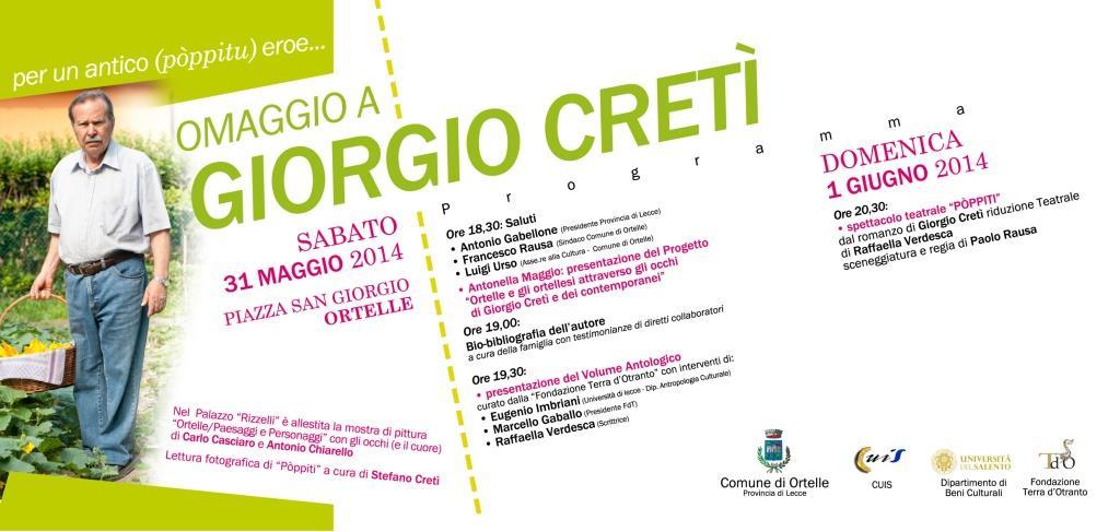 Omaggio a Giorgio Cretì. A Ortelle
