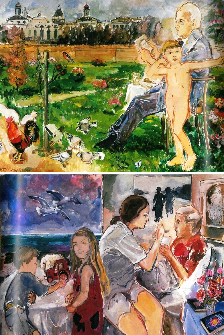 Casa di Riposo Aresi di Brignano - Tempera su tela, 200 x 150, 1998