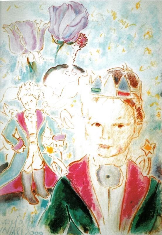 Luigi Piccolo Principe - ritratto, pastelli ad olio, 2000