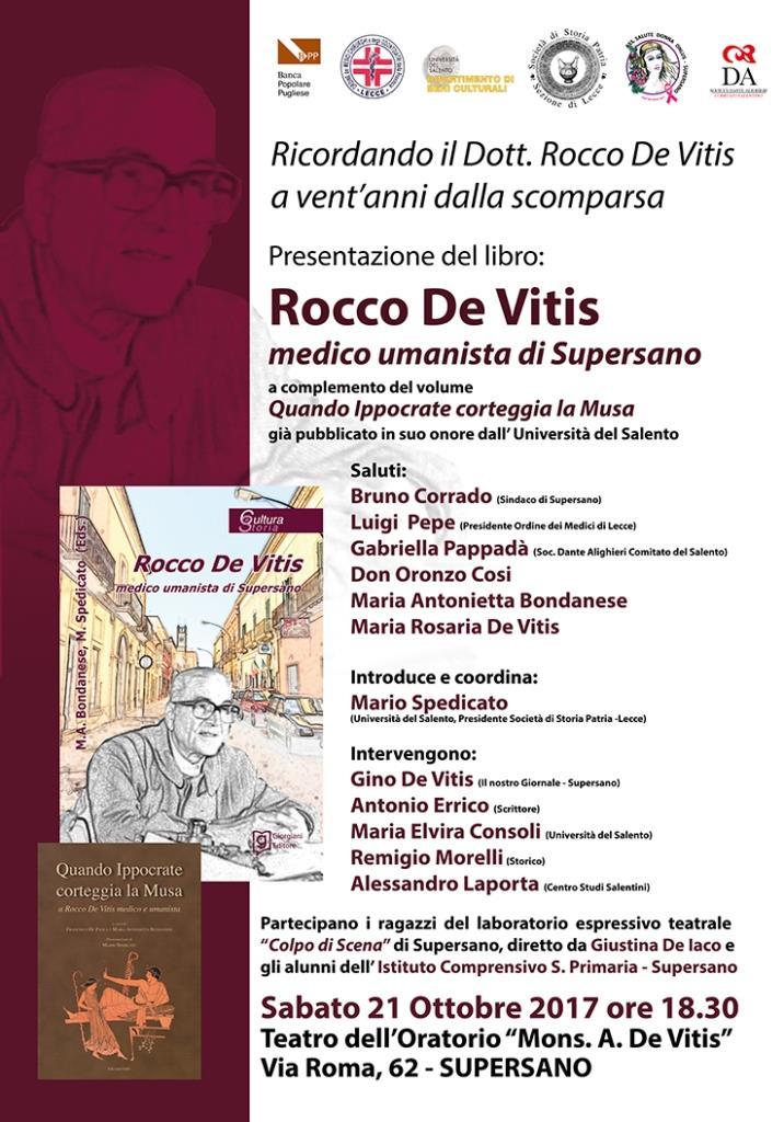 Rocco De Vitis a vent'anni dalla scomparsa