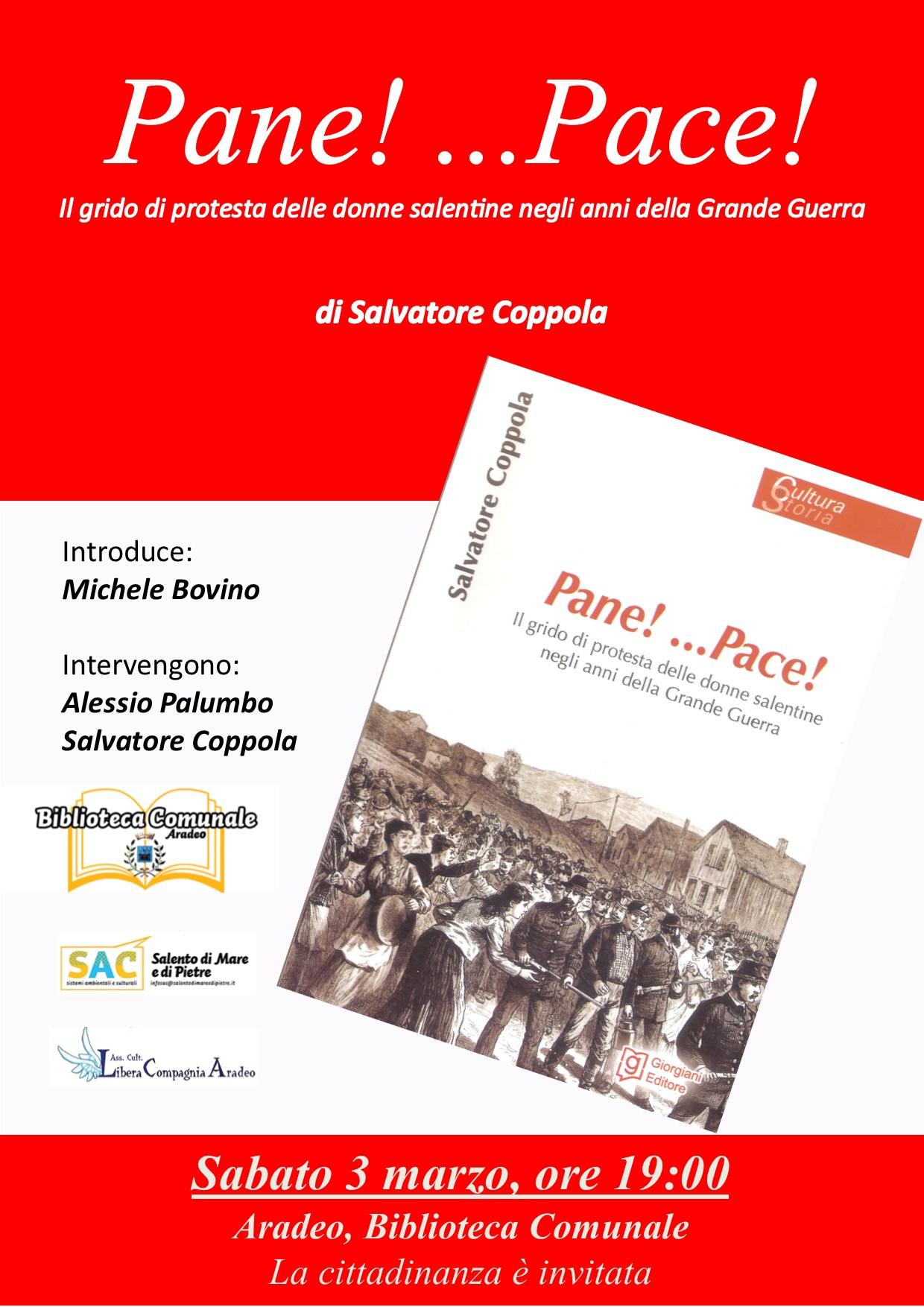 Libri| Pane! …Pace!…Il grido di protesta delle donne salentine negli anni della grande guerra