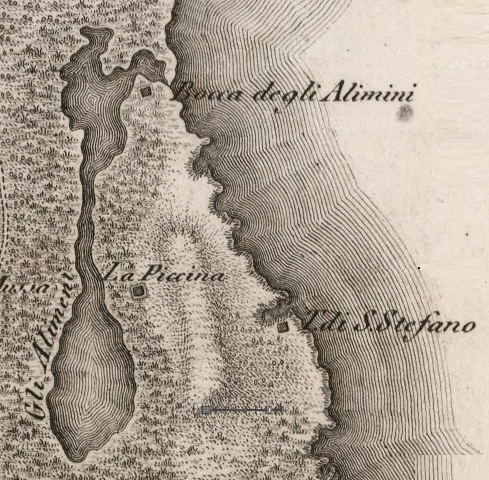 I laghi Alimini nell'atlante del Pacelli (1803)