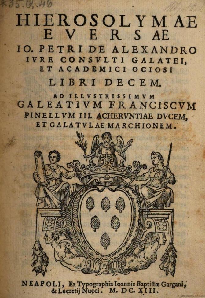 """Galeazzo Pinelli, il marchese """"fatuo"""" di Galatone, nella celebrazione del Fapane di Copertino"""