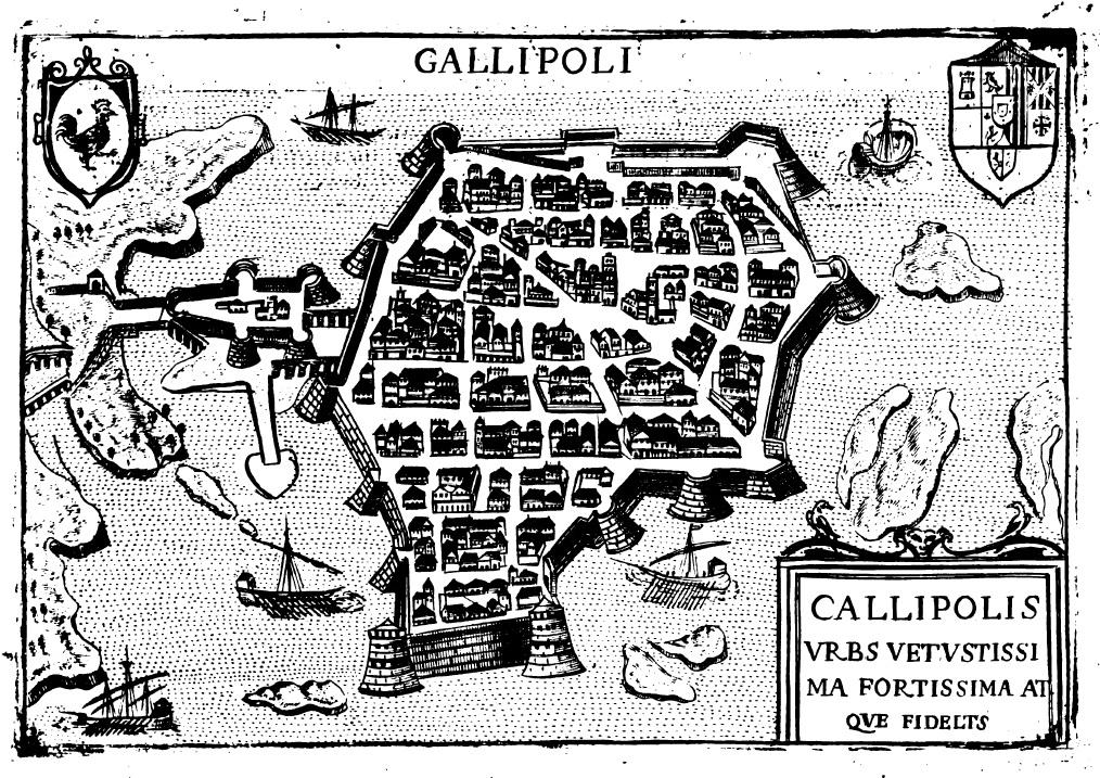 Gallipoli e Taranto in due mappe del XVII secolo
