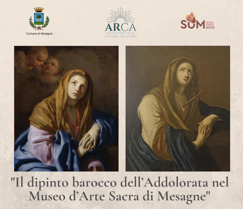 Il dipinto barocco dell'Addolorata nel Museo d'Arte Sacra di Mesagne