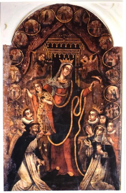 La Madonna degli Angeli per la cappella dei d'Amato di Seclì della chiesa di San Domenico a Nardò
