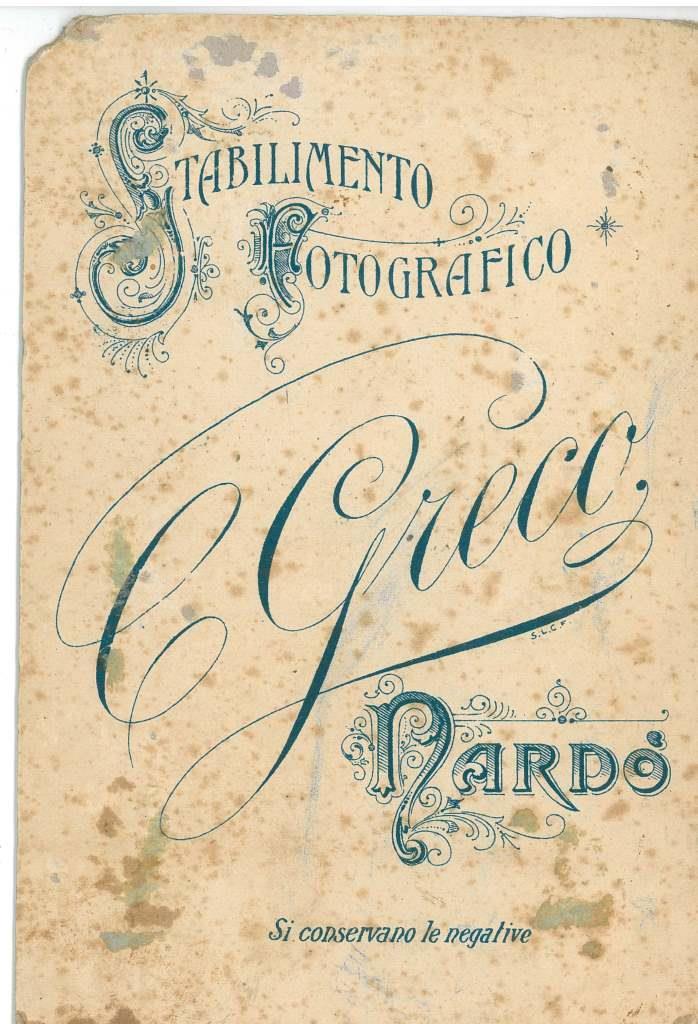 Agli albori della fotografia a Nardò. Cosimo Greco (1875-1920), eccellente fotografo