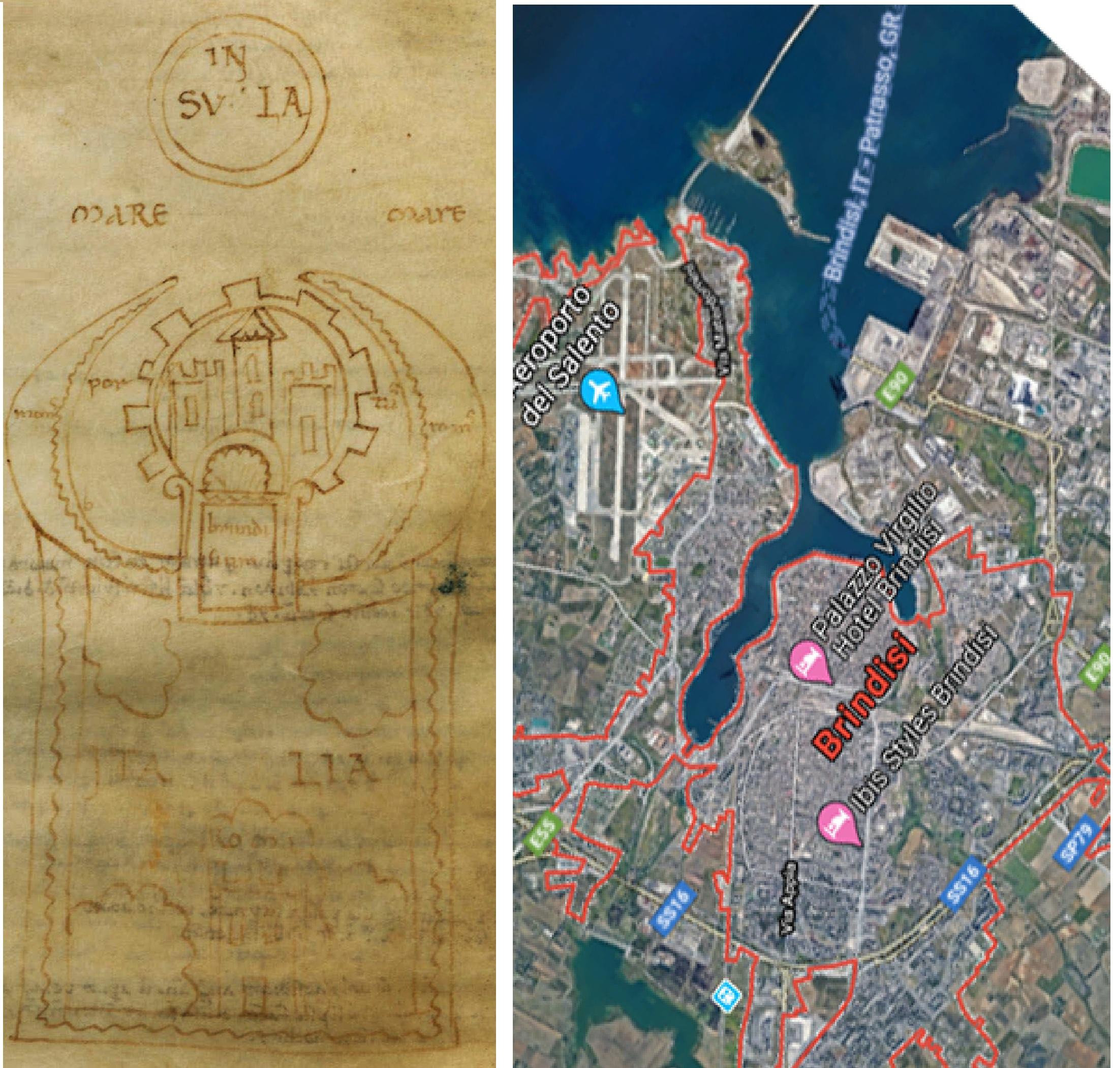 Brindisi: il porto in un disegno che passò per le mani del Boccaccio