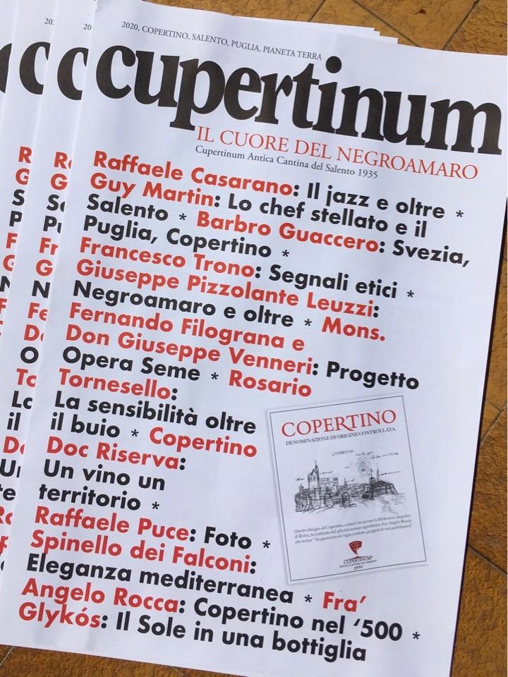 Cupertinum doc 2020, il giornale etico della Cantina di Copertino