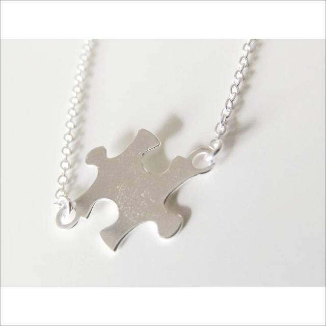 Puzzle necklace in sterling silver