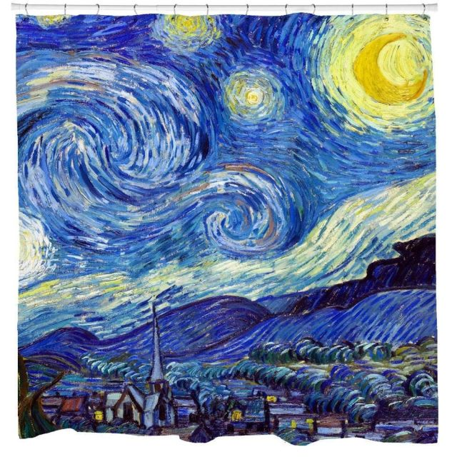 Starry Night Shower Curtain - Extra Long - 71x90