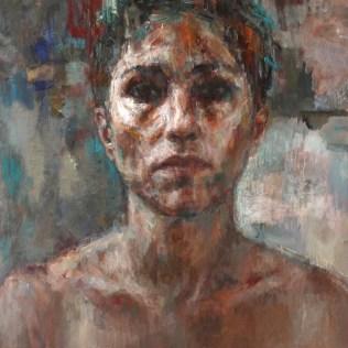 All we've got, 100x81 cm huile sur toile, Lucie Geffré 2020