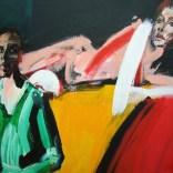 La femme étendue et son peintre, Serge Labégorre 2020, format 70 100x140 cm Détail at#08