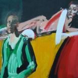 La femme étendue et son peintre, Serge Labégorre 2020, format 70 100x140 cm at#01