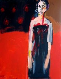 Andrea robe noire 1- Serge Labegorre 2016 - 146x114 cm 80 F- Acryl sur toile