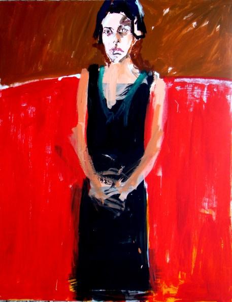 Andrea robe noire 2- Serge Labegorre 2016 - 146x114 cm - Acryl sur toile (2)