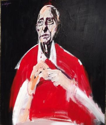 Evêque de France C, Serge Labégorre 2010 _ 100x81 cm 40Facrylique sur toile