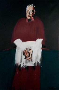 Evêque rouge tyrien Robert B, Serge Labégorre 2016 _ 195x130 cm 120F acrylique sur toile