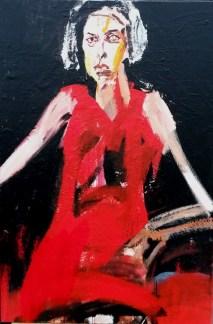 Femme, Serge Labégorre 1995 _ 120x80 cm assimilé 50P acrylique sur toile