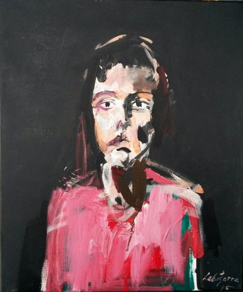 Garance enfant, Serge Labégorre 2015_55x46 cm 10F acrylique sur toile