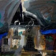 Gros Bonnet, Serge Labegorre 2010_46x55 cm 10F acrylique sur toile