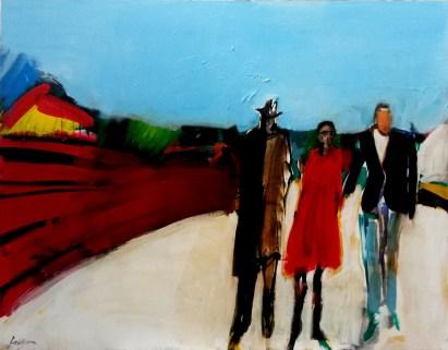La promenade du dimanche_Labégorre 2017_146x114 cm 80 F acrylique sur toile