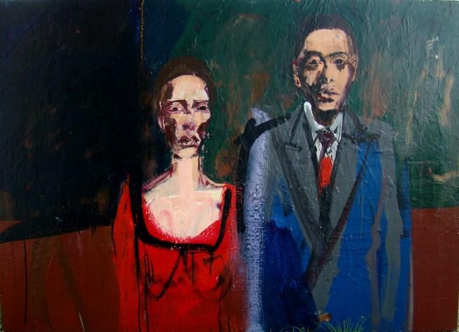 La surprise partie, Serge Labegorre 2011 _ 100x140 cm AM70 Acrylique sur toile