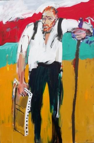 Le pèlerin de l'infini, Serge Labégorre 2015 _ 195x130 cm 120F acrylique sur toile