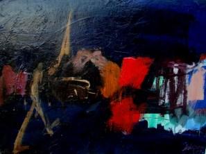 Le piéton, Serge Labégorre 2007 _ 60x81 cm 28P acryliquesur toile
