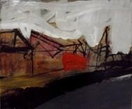 Libourne les quais, Serge Labégorre 2010_ 46x55 cm 10 F acrylique sur toile