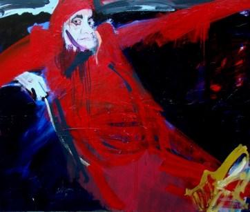 L'inquisiteur, Serge Labegorre 2011 _ 114x146 cm 80F acrylique sur toile