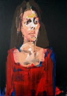 Marie Josée, Serge Labégorre 2013_70x50 cm 20M acrylique sur toile